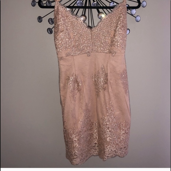 Forever 21 Dresses & Skirts - 💋Lace Nude Dress -NWT